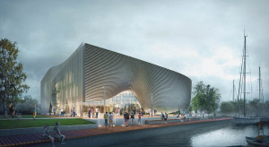 Przy promenadzie w Łebie ruszyła budowa muzeum spod kreski Plus3Architekci