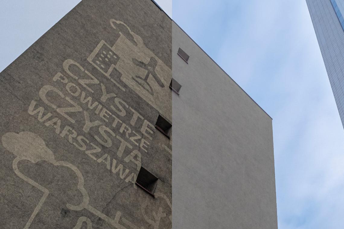 Od wodnych murali po czyste elewacje. Antysmogowa akcja w Warszawie