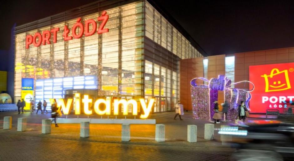 Port Łódź z dekoracjami świątecznymi