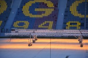 Zaglądamy na budowę Stadionu Miejskiego w Szczecinie. Gotowe dwie trybuny