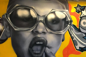 """Elo"" - graffiti w tunelu pod DK-1 w Tychach"