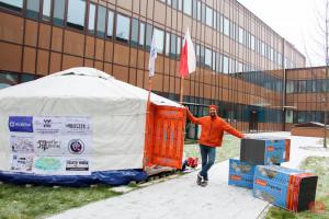 Mongolska jurta stanęła w Krakowie