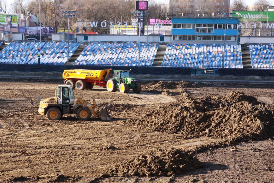 Trwa przebudowa Stadionu Miejskiego Stal w Rzeszowie