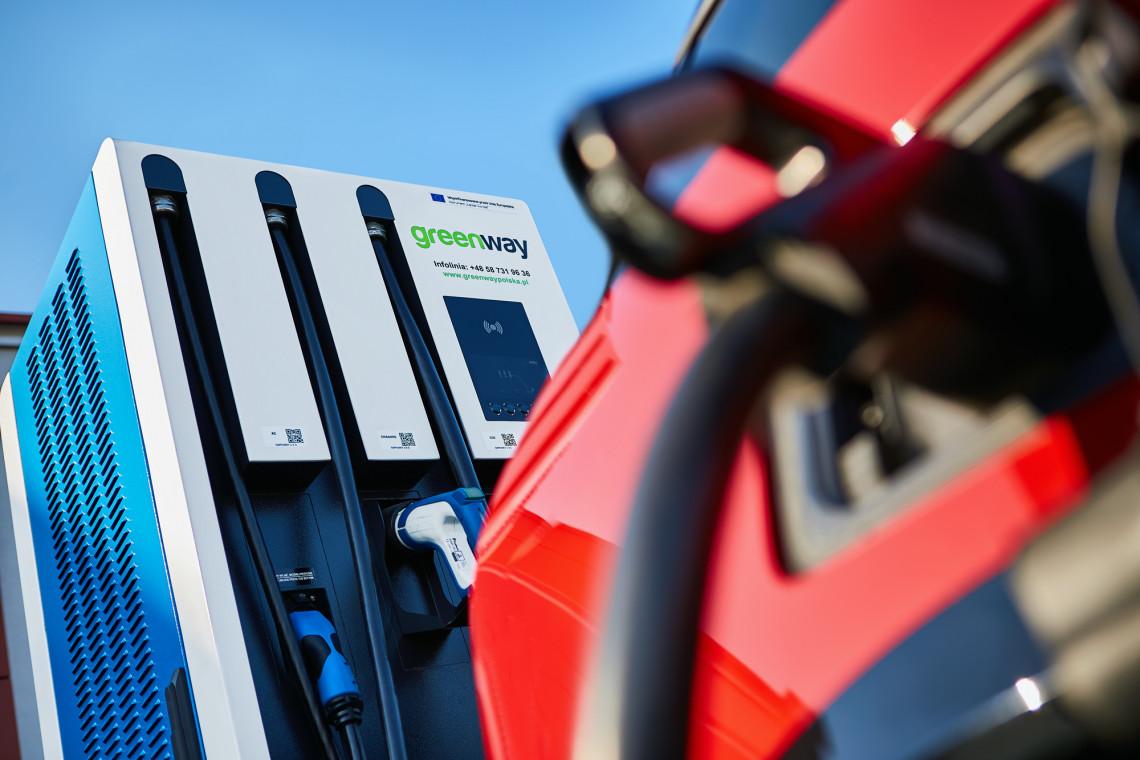 Ładowarki do samochodów elektrycznych w CH Auchan Krasne koło Rzeszowa