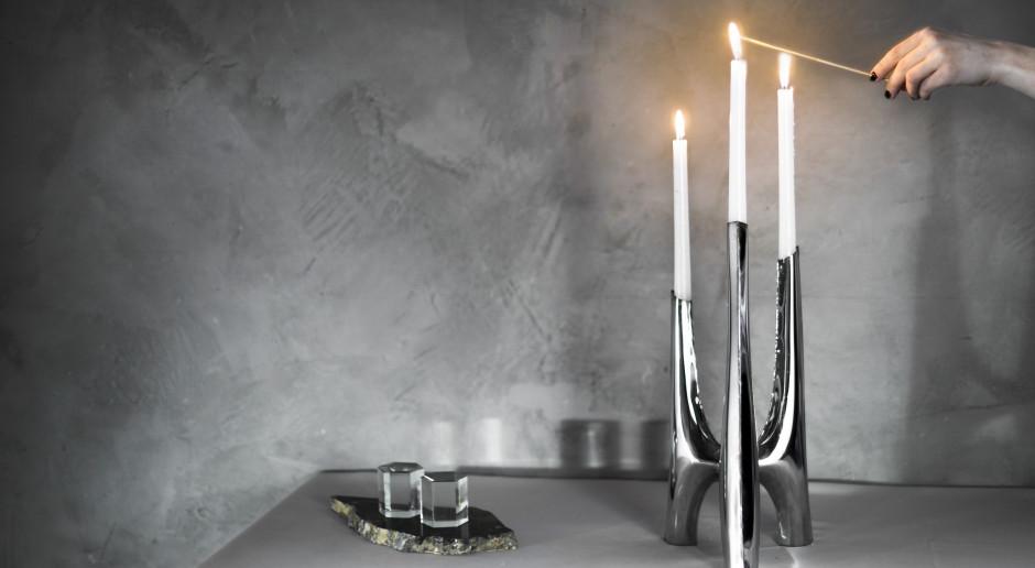 Świecznik zainspirowany gotyckimi katedrami. Nowy projekt od Zięta Studio
