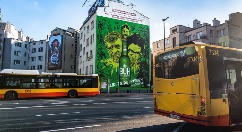 Janusz Palikot i Kuba Wojewódzki na muralu w Warszawie