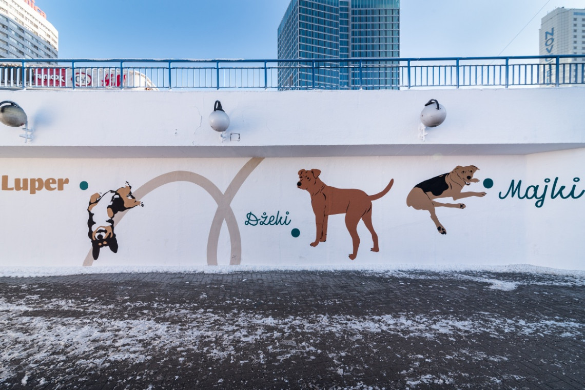 """Podopieczni Fundacji Rasowy Kundel bohaterami muralu na warszawskiej """"Patelni"""""""