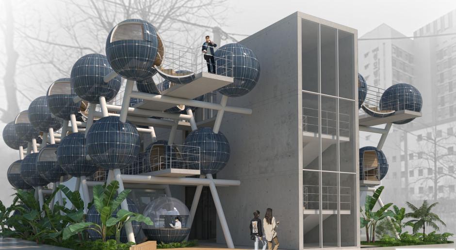 Studentka Politechniki Wrocławskiej zaprojektowała kabiny do snu w Seulu