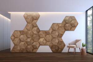 Polska marka projektuje drewniane panele 3D w zrównoważonym duchu