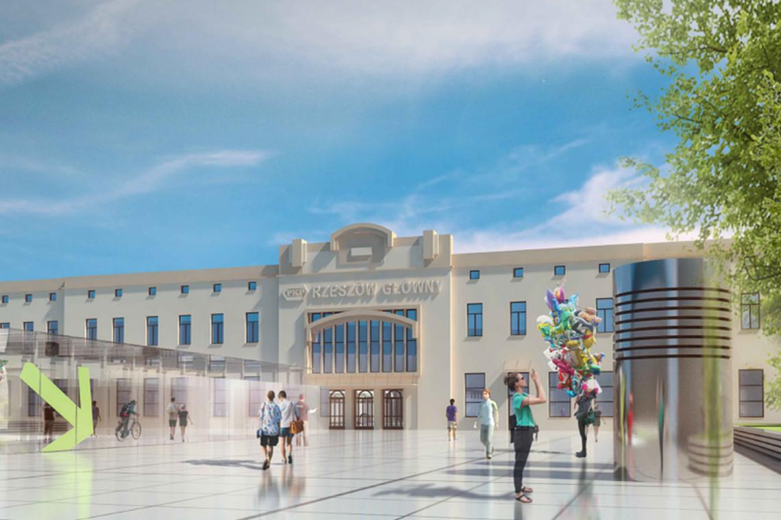 Tak będzie wyglądał nowy dworzec kolejowy w Rzeszowie