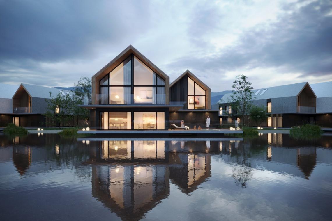 Slow-life spod kreski Q2Studio: projekt zespołu hotelowego Karkonosze Springs w Staniszowie