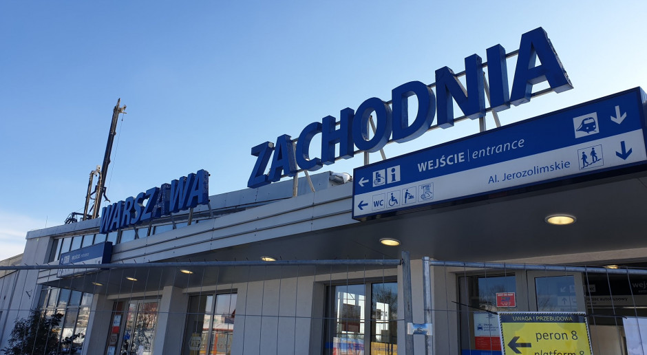 Warszawa Zachodnia zmienia się dla podróżnych. Kolejny etap prac na stacji