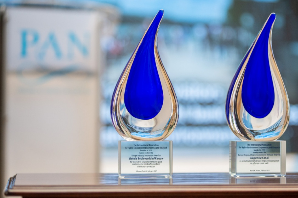 Bulwary Wiślane i Kanał Augustowski docenione w prestiżowym międzynarodowym konkursie