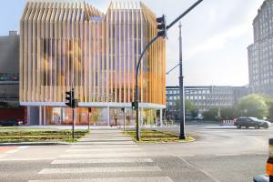 Zaprojektowali drewniany hotel w ścisłym centrum Łodzi