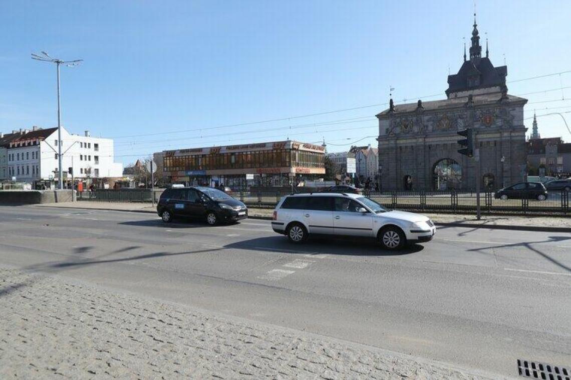 Przejście dla pieszych przy Bramie Wyżynnej w Gdańsku. Ma być gotowe w 2022 roku