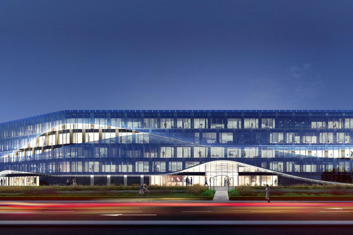 Krajobraz Krakowa dopełnił nowy biurowiec. I etap Ocean Office Park oddany do użytku