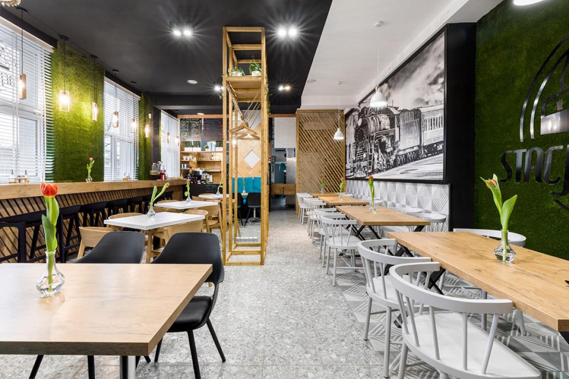 Nowoczesna restauracja z klimatem. Świetny projekt wnętrza w lofotowym stylu