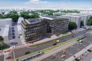 We Wrocławiu ruszyła budowa biurowca spod kreski AHR Architects. Bryła intryguje