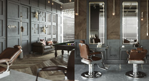 Męsko i ekskluzywnie: ciekawy projekt barber shopu we Wrocławiu
