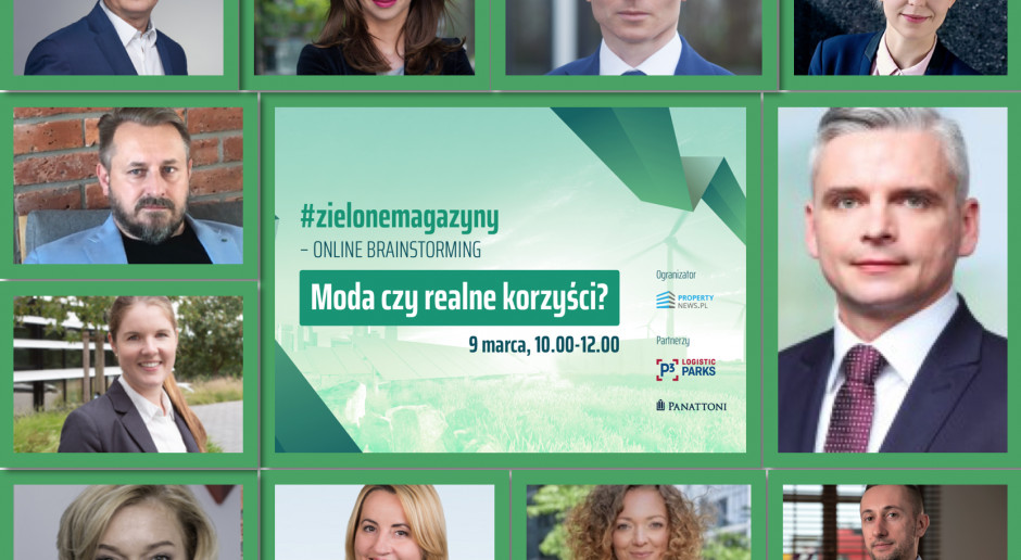 Już dzisiaj debata o ekologicznych obiektach magazynowych!