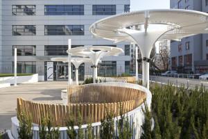 HOL 7.7 gotowy do wiosny. Zakończyła się przebudowa patio przy warszawskim biurowcu