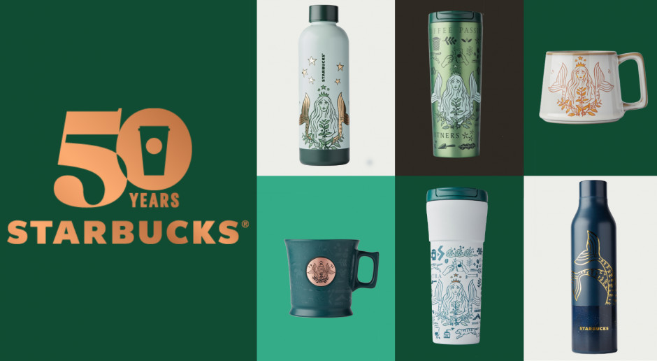 Starbucks wprowadza specjalną kolekcję kubków na 50-lecie marki