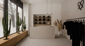 Architekci z Five Cell z minimalistycznym projektem w centrum Warszawy. Zaglądamy do butiku MUUV