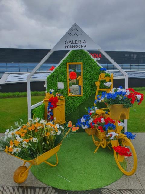 Ogród gigantycznych kwiatów powstał na dachu galerii handlowej