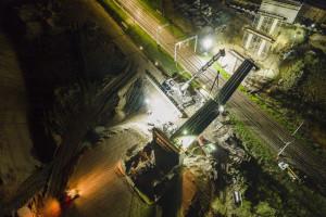Ponad stumetrowa przeprawa powstaje w Małkini