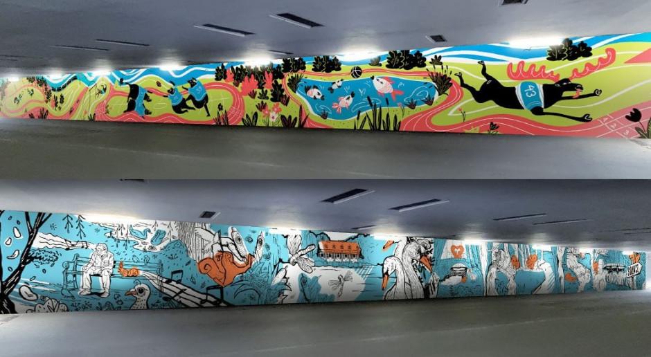 Kolejna artystyczna ściana w przyozdobi Poznań