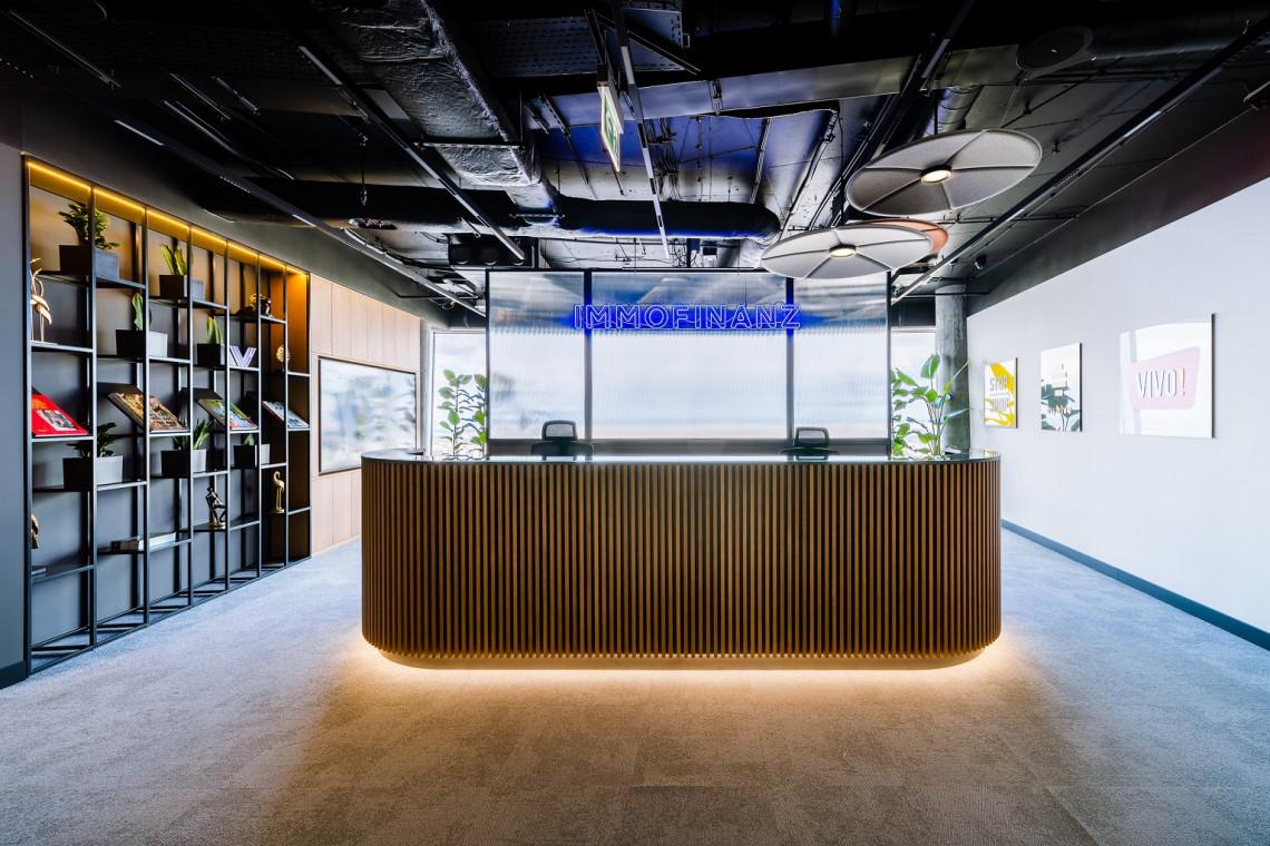 38. piętro Warsaw Spire dla Immofinanz. Zaglądamy do wnętrz biura projektu AVG Architekci