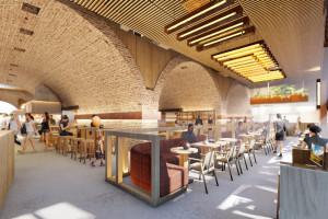 Browary Warszawskie z jedynym w swoim rodzaju Food Hallem. To koncepcja rodziny Likus i NOKE Architects