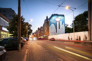 Jeżycka inwestycja Echo Investment z muralem dzieła Jędrzeja Hoffmanna