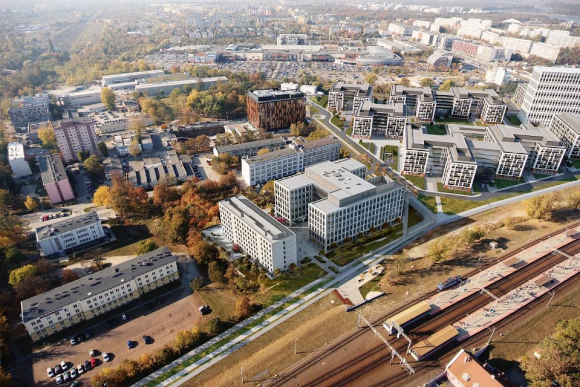 We Wrocławiu stanie bryła biurowo-hotelowa autorstwa APA Wojciechowski