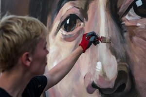 Nowe dzieło studentów ASP i Good Looking Studio. Mural uczcił wybitną malarkę