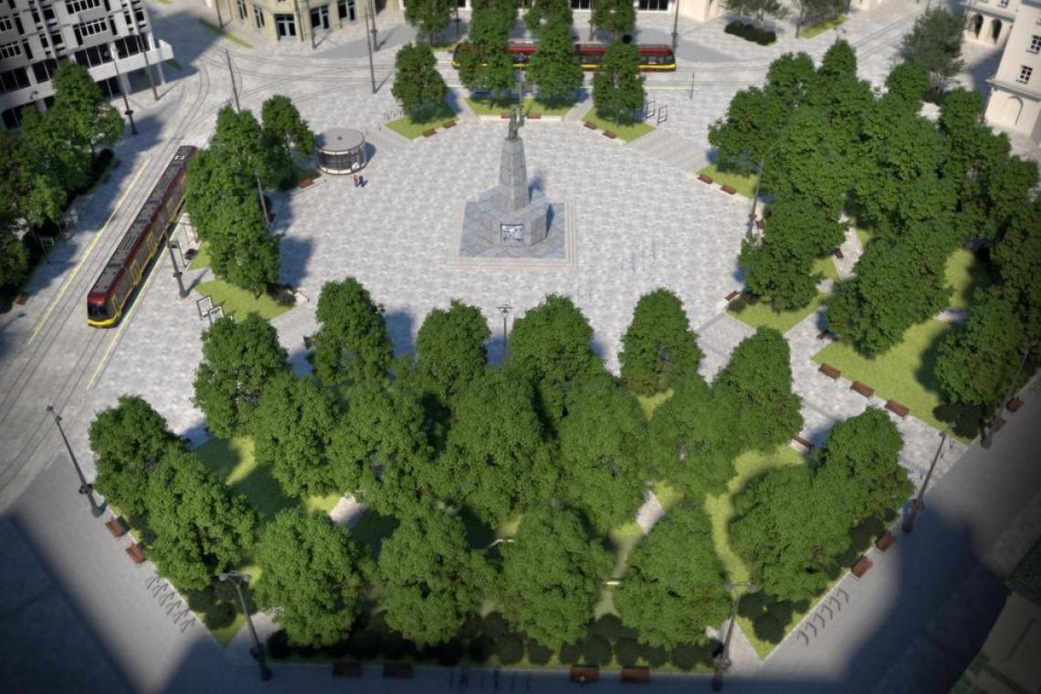 Na plac Wolności w Łodzi zawita zieleń