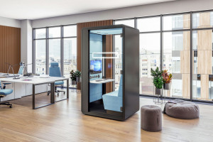 HushHybrid: nowa kabina akustyczna do pracy hybrydowej i dla lepszych wideokonferencji