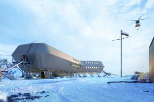 Polska Stacja Arctowski na Antarktydzie. Projekt koncepcyjny opracowany przez biuro Kuryłowicz & Associates już gotowy!
