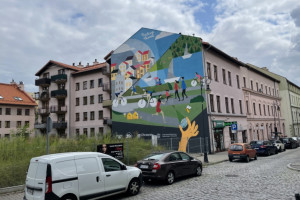 W Chorzowie powstał mural oczyszczający powietrze