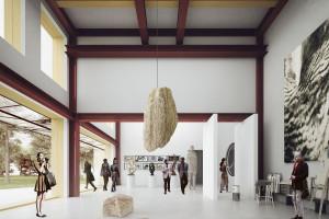 Choć projekt nie wygrał, robi wrażenie. Oto Omuli Museum of the Horse szkicu Gierbienis+Poklewski