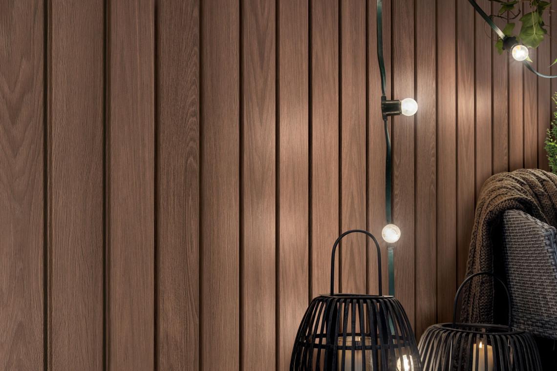 Elewacja budynku: nowa okładzina. Doskonale imituje drewno