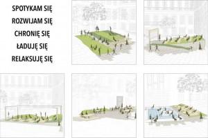 Politechnika Wrocławska. Studenckie projekty zmian dziedzińca budynku A-1