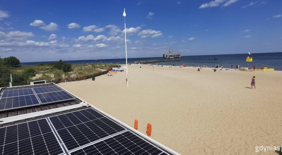 Ekologiczna Gdynia. Fotowoltaika na plaży Babie Doły