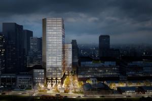 Kolejny biurowiec Skanska w sercu biznesowej Woli. Oto Studio szkicu Arrow Architects i Grupy 5 Architekci