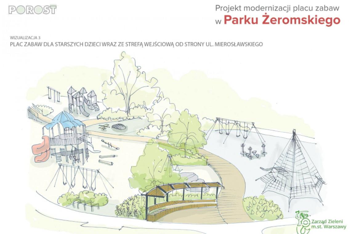 Park im. Żeromskiego w Warszawie zyska odnowiony plac zabaw