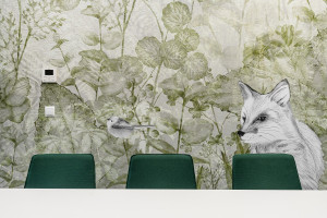 """Flaming, lis, małpa, bocian... Pracownia Gierbienis + Poklewski stworzyła niesamowicie """"zwierzęce"""" biuro"""