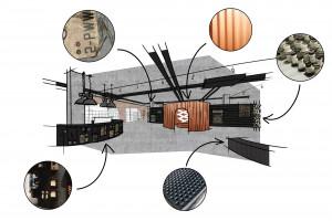 Industrialne wnętrza nowego sklepu Run Colors. Świetny projekt pracowni Modelina