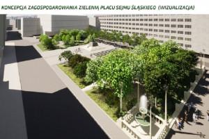 Tak zmieni się plac Sejmu Śląskiego w Katowicach. Koniec z parkingiem, będzie zieleń!