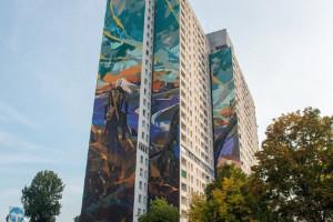 Już jest! Oto największy mural w Polsce, a na nim - Wiedźmin