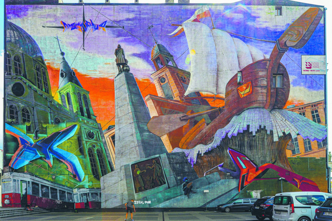 Łódź muralami stoi